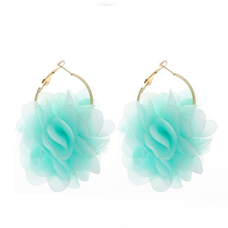 fashion chiffon cloth lace flower multi-layer earrings NHJJ323555's discount tags