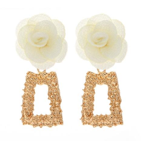 Pendientes multicapa de flores de encaje de tela de gasa de moda NHJJ323557's discount tags