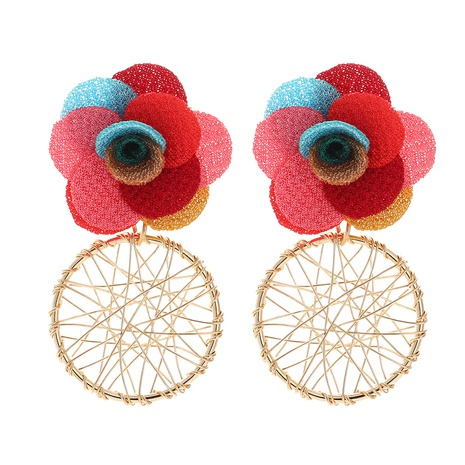 new fashion multi-layer chiffon cloth lace flower earrings NHJJ323559's discount tags
