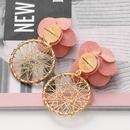 new fashion multilayer chiffon cloth lace flower earrings NHJJ323559