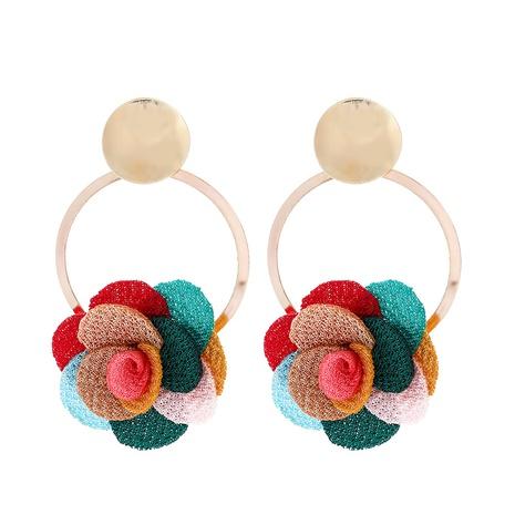 nuevo pendiente de flor de encaje de tela de gasa multicapa NHJJ323560's discount tags
