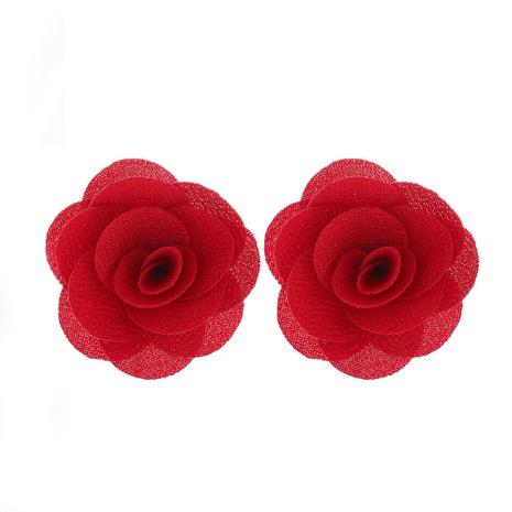 nuevos pendientes de flores de encaje de tela de gasa multicapa NHJJ323562's discount tags