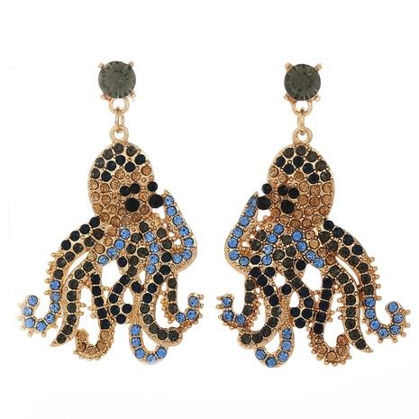 pendientes de pulpo de diamantes de moda NHJJ323563's discount tags