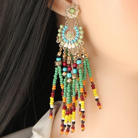 Bohemian Tassel Ethnic Style Beaded Tassel Earring NHJJ323570's discount tags