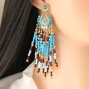 Bohemian Tassel Ethnic Style Beaded Tassel Earring NHJJ323570