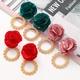 new multilayer chiffon cloth lace flower earrings NHJJ323581