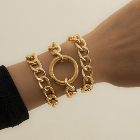 fashion geometric multi-layer alloy bracelet   NHXR323596's discount tags