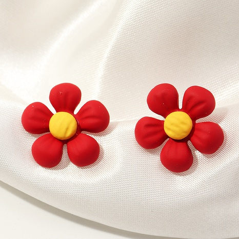 fashion simple heart-shaped flower earrings NHNZ323620's discount tags