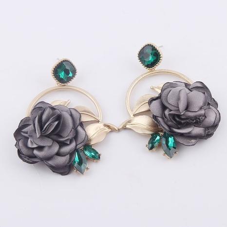 Pendientes largos de rosa de moda barroca NHWJ323629's discount tags
