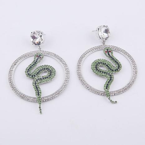Pendientes de serpiente de diamantes llenos barrocos de moda NHWJ323631's discount tags