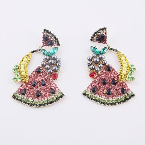 Pendientes de diamantes de sandía de plátano barroco de moda NHWJ323634's discount tags
