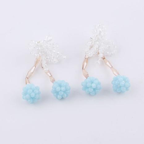 Pendientes de cuentas de flores de cristal de moda coreana NHWJ323635's discount tags