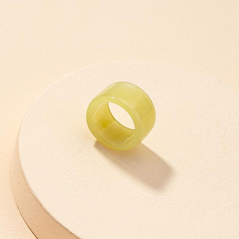 fashion resin round shape ring wholesale NHGU323644