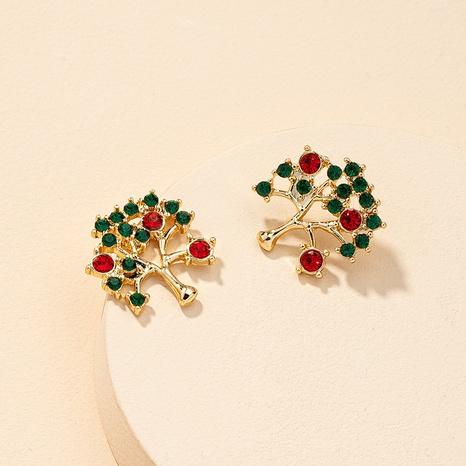 Retro-Mode Diamant besetzt Weihnachtsbaum Ohrringe NHGU323655's discount tags