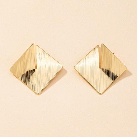 pendientes geométricos de metal de moda retro NHGU323657's discount tags
