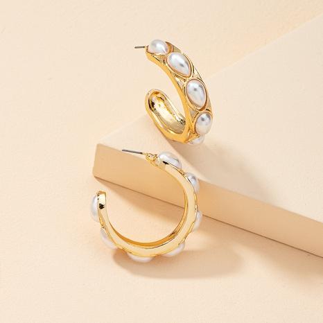 pendientes de perlas en forma de C de moda retro NHGU323658's discount tags