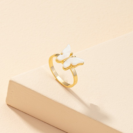 wholesale fashion acrylic butterfly ring NHGU323660's discount tags