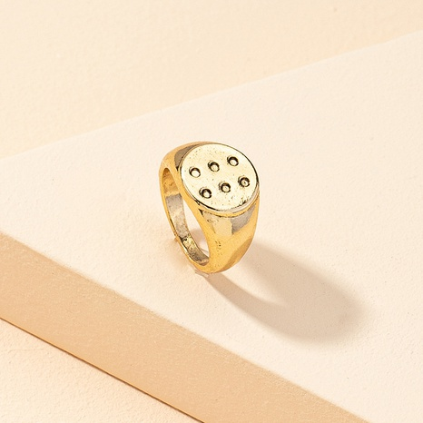 wholesale retro geometric metal color ring NHGU323664's discount tags