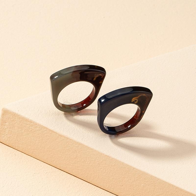 wholesale fashion contrast color ring set  NHGU323667