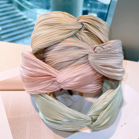 retro fold geometric wide-brimmed macaron headband NHHD323685's discount tags