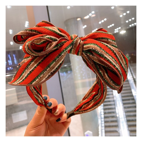 Einfaches Bowknot Plaid-Stirnband im College-Stil NHHD323690's discount tags
