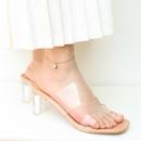 Korean lucky lock titanium steel anklet  NHOK323691