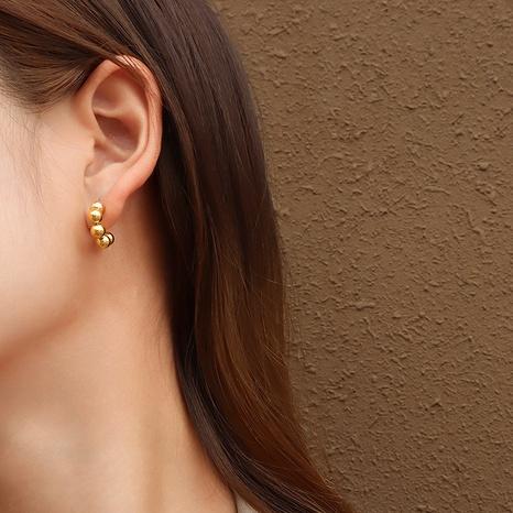 Retro runde Perle C-förmige Ohrringe NHOK323700's discount tags