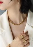 NHOK1493422-P980-gold-necklace-41+4cm