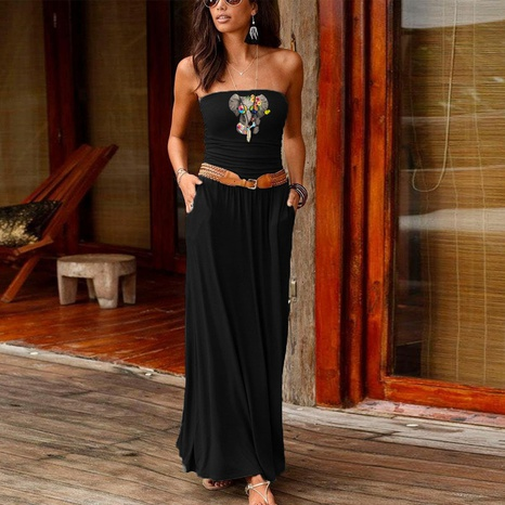 fashion loose simple off-shoulder dress NHUO323769's discount tags