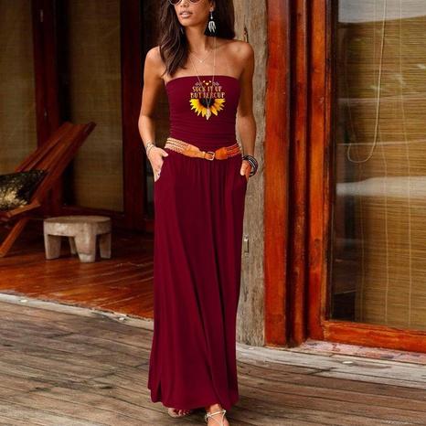 ärmelloses, lockeres, einteiliges Kleid mit neuem Modedruck NHUO323764's discount tags