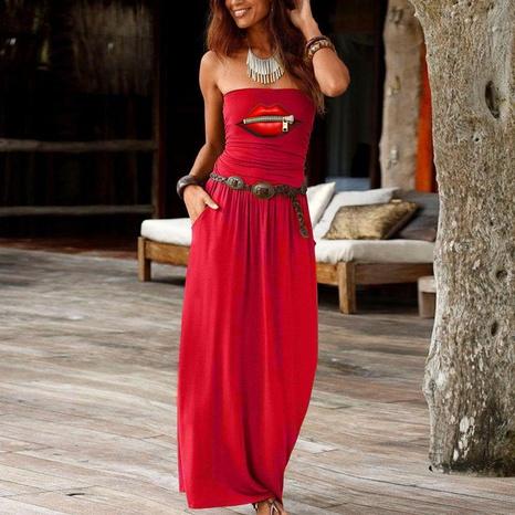 Mode einfaches lockeres einteiliges Kleid NHUO323761's discount tags