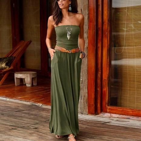 Mode locker sexy Einhals-Print-Kleid NHUO323760's discount tags