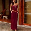 vestido suelto sexy con estampado de un cuello de moda NHUO323760