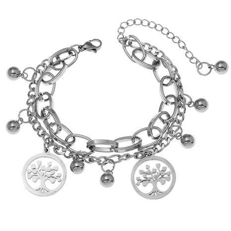 Korean fashion simple stainless steel life tree bracelet NHSC323323's discount tags