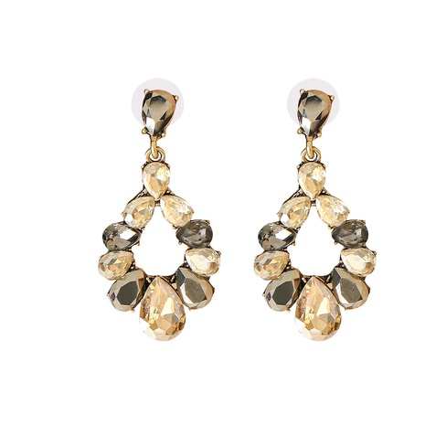 Mode tropfenförmige Diamantohrringe NHJJ323575's discount tags