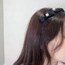 Korea Black Bowknot Pearl Hairband NHWF323772