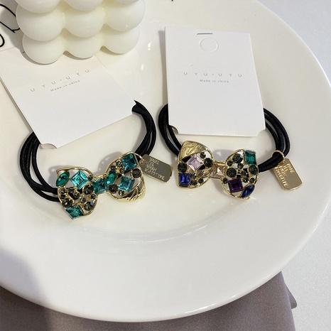 Scrunchies coreanos del pelo del bowknot del diamante artificial NHWF323777's discount tags
