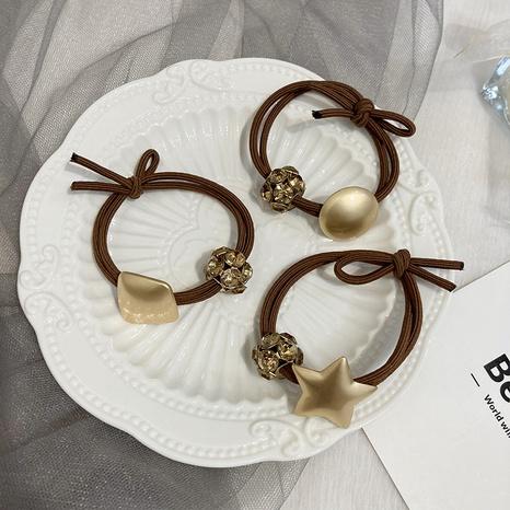 Scrunchies coreanos del pelo del corazón del metal de la moda NHWF323788's discount tags