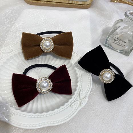 Gomas para el pelo con lazo de perlas barrocas NHWF323791's discount tags