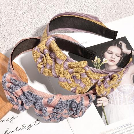 diadema de ala ancha tejida con flores de moda NHAQ323836's discount tags