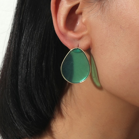 fashion simple drop-shaped transparent acrylic resin earrings NHKQ323863's discount tags