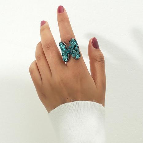 Korea Mode Diamant Schmetterling Eröffnungsring NHKQ323865's discount tags