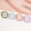 Korean simple candy color acrylic resin ring set  NHAI323885