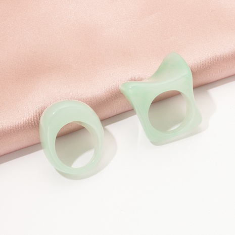 Korea fashion acrylic resin ring set  NHAI323895's discount tags