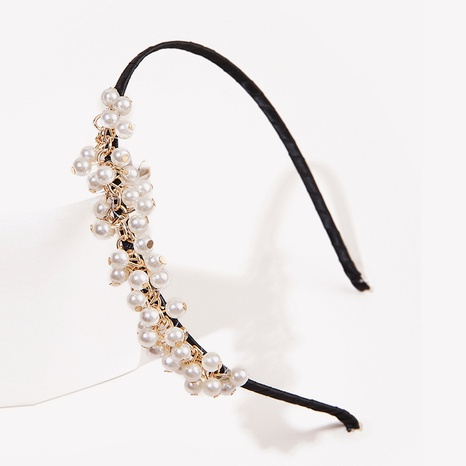 simple fashion pearl headband  NHGE323912's discount tags