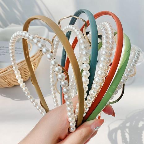 diadema de onda esmerilada con perlas de moda NHOF323923's discount tags