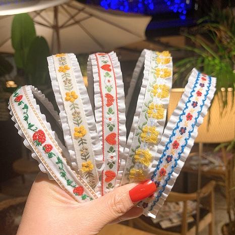 Mode Stickerei niedlichen Blumen Stirnband NHSA323934's discount tags