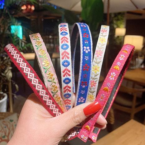 Diadema de flores bordadas de moda coreana NHSA323939's discount tags