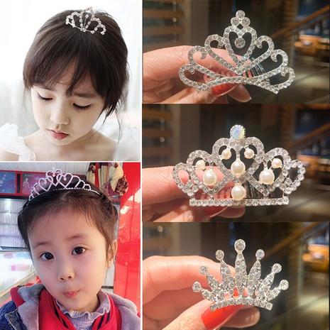 Horquilla linda de la corona del diamante artificial de los niños NHSA323940's discount tags
