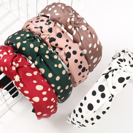 fashion dot printing hair band NHJE323983's discount tags